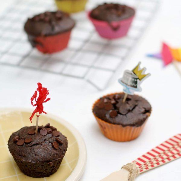 Muffins de chocolate gluten-free